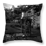 English Country Garden And Mansion - Series II Throw Pillow