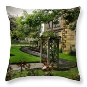 English Country Garden And Mansion - Series IIi. Throw Pillow