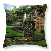 English Country Garden Throw Pillow