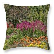 English Garden In Summertime Throw Pillow
