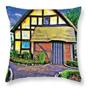 English House Throw Pillow