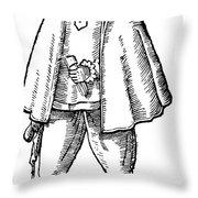 English Merchant, 1598 Throw Pillow