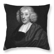 English Naturalist John Ray Throw Pillow