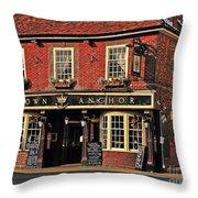 English Pub Throw Pillow