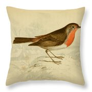 English Robin Throw Pillow by Philip Ralley
