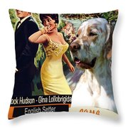 English Setter Art Canvas Print - Come September Movie Poster Throw Pillow