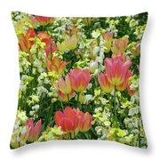 English Spring Throw Pillow