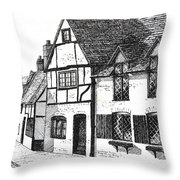English Village Throw Pillow by Shirley Miller
