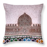 Engraved Writing And Colored Tiles No1 Throw Pillow
