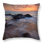 Engulfed By The Waves Throw Pillow