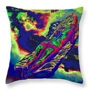 Engulfed In Burning Emotions Throw Pillow