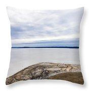 Enid Lake - Winter Landscape Throw Pillow