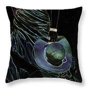 Enigma Throw Pillow by Jenny Rainbow