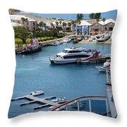 Enjoying The Harbor View Throw Pillow