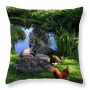 Enjoying The Summer Throw Pillow