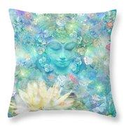 Enlightened Forest Heart 3 Throw Pillow