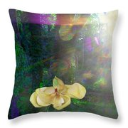 Enlightened Magnolia Throw Pillow