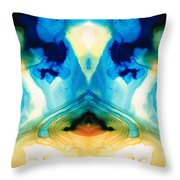 Enlightenment - Abstract Art By Sharon Cummings Throw Pillow