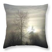 Fog Of Enlightenment Throw Pillow