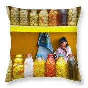Ensenada Olive Stand 07 Throw Pillow