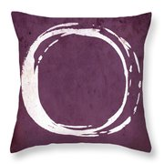 Enso No. 107 Magenta Throw Pillow