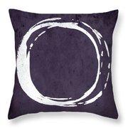 Enso No. 107 Purple Throw Pillow