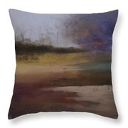 Entangled Abstract Landscape Original Painting On Stretched Canvas Signed  Throw Pillow