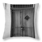 Enter In Black And White Throw Pillow