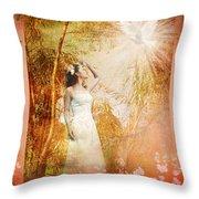 Enter Into His Garden Throw Pillow