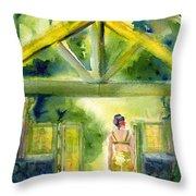 Enter The Garden Throw Pillow