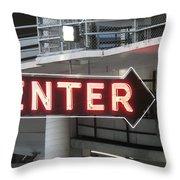 Enter Throw Pillow