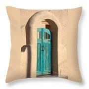 Enter Turquoise Throw Pillow