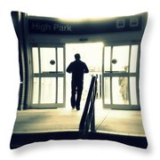 Entering A New Dimension Throw Pillow