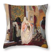 Entering The Harem Throw Pillow