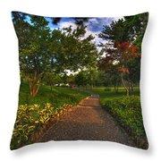 Entering The Japanese Garden Throw Pillow