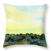 Entering The Shire Throw Pillow