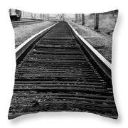 Entering The Train Yard. Washington Dc Throw Pillow