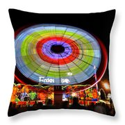 Enterprise On The Midway Throw Pillow by David Lee Thompson