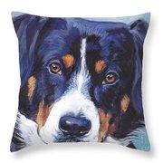 Entlebucher Mountain Dog Throw Pillow