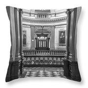 Entrance At Michigan State Capital  Throw Pillow