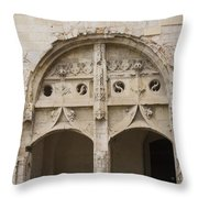 Entrance Fontevraud Abbey- France Throw Pillow
