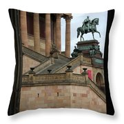 Entrance Old National Gallery Berlin Throw Pillow
