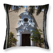 Entrance To Congregational Church Throw Pillow
