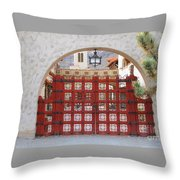 Entrance To Court Yard Throw Pillow