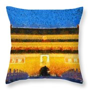 Entrance To Forbidden City Throw Pillow
