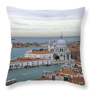 Entrance To Grand Canal Venice Throw Pillow