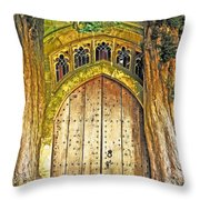 Entrance To Middle Earth Throw Pillow