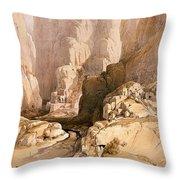 Entrance To Petra Throw Pillow