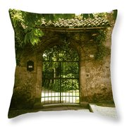 Entrance To Romeo And Juliet House Throw Pillow