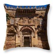 Entrance To The 10th Century Mezquita Throw Pillow